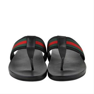 4757864f207 Gucci Shoes - New Gucci Men s Black Leather Thong Sandals Web
